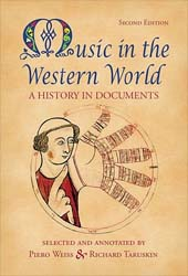 Music in the Western World: A History in Documents.